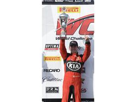 Kia Racing's Mark Wilkins pilots the No. 38 to victory at Barber Motorsports Park