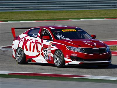 Kia Racing Starts Pirelli World Challenge GTS-Class Title Defense Atop Podium In Season Opener At Ci