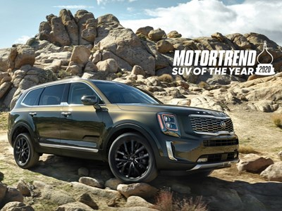 2020 Kia Telluride named MotorTrend's SUV of the year
