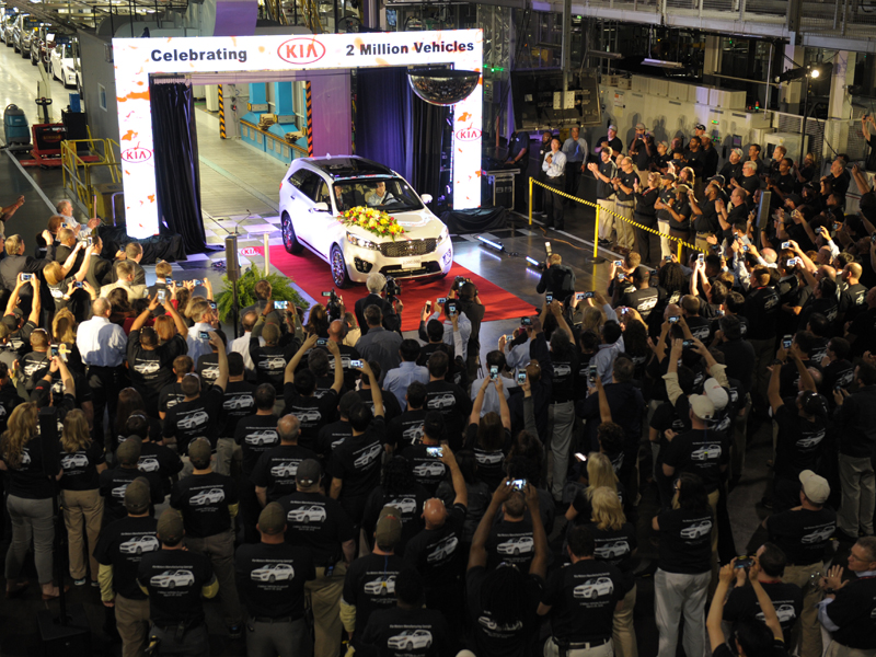 KMMG Team Members Celebrate Production of the Plant's Two Millionth Vehicle