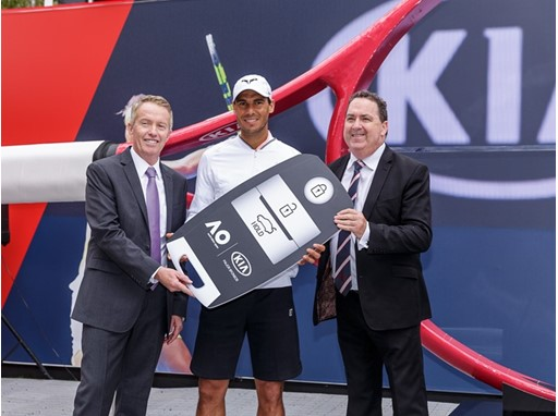 Kia Motors and Rafael Nadal at Australian Open 2017 (1)