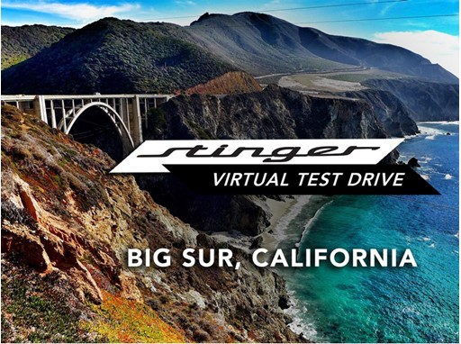 Kia Stinger - Virtual Test Drive - Big Sur , California