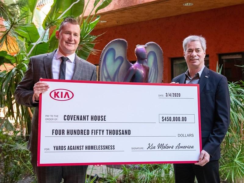"Kia Motors Donates $1 Million to ""Yards Against Homelessness"" Charity Partners"