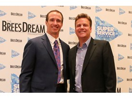 Drew Brees, Dave Lindsey, Super Service Challenge Press Conference 1.30.15