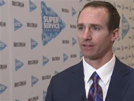 Drew Brees, New Orleans Saints Quarterback and Super Service Challenge Ambassador