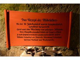 Schild im Felsenkeller - Rezept Mittelalter