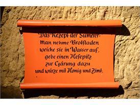 Schild im Felsenkeller - Rezept der Sumerer