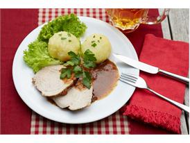 Roast pork with beer