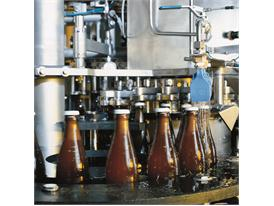 Modern beer-bottling plant