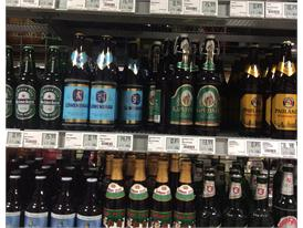Variety of beers in Germany