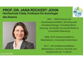 Prof. Dr. Jana Rückert-John, Hochschule Fulda, Professur für Soziologie des Essens