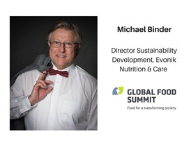 Michael Binder, Director Sustainability Development, Evonik Nutrition & Care