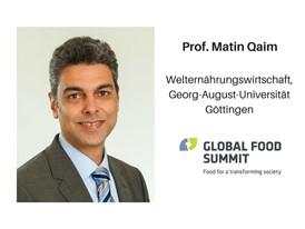 Prof. Matin Qaim, Welternährungswirtschaft, Geord-August-Universität Göttingen