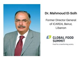 Dr. Mahmoud El-Solh, Former Director General of ICARDA, Beirut, Libanon