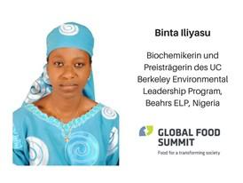 Binta Iliyasu, Biochemikerin und Preisträgerin des UC Berkeley Environmental Leadership Program, Beahrs ELP, Nigeria