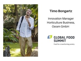 Timo Bongartz, Innovation Manager Horticulture Business, Osram GmbH