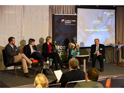 "Panel discussion ""Share Knowledge, Share Food"" at Global Food Summit 2017 in Berlin"