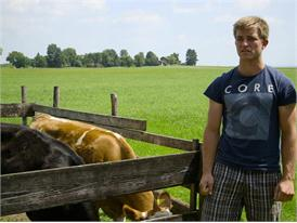 Michael Höhensteiger, Junglandwirt und Agraringenieur aus Großkarolinenfeld, Bayern