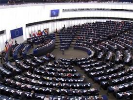 Stock Shots des Europäischen Parlaments in Brüssel