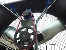Ventilatoren der neuesten Generation zur Belüftung und Kühlung von Milchviehställen