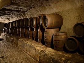Historische Bierlagerung im natürlichen Felsenkeller, Katakomben in Bayreuth