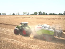 CLAAS QUADRANT 3300 drone images