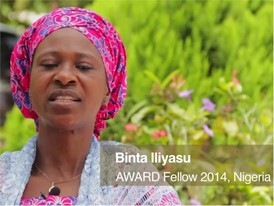 Binta Iliyasu, Winner AWARD Fellowship