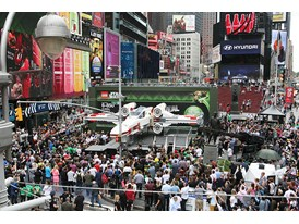 Times Square Unveil LEGO Star Wars X-Wing