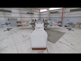 X-Wing Model in Hangar