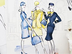Flight attendants' uniforms in the fashion limelight