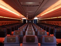 Lufthansa A350-900 - Worldwide Debut for Innovative Lighting Technology
