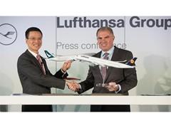 Cathay Pacific Airways und Lufthansa Group vereinbaren Zusammenarbeit