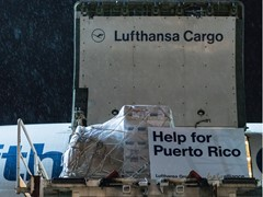 Lufthansa is flying out relief-aid goods to Puerto Rico