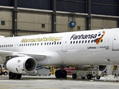 "German team takes off for the World Cup in Russia with the Fanhansa ""Mannschaftsflieger"""