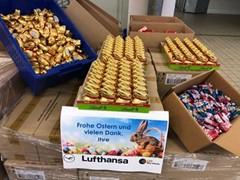 Lufthansa und SWISS spenden Osterschokolade an Kliniken und Tafeln