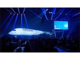Große Show für die Lufthansa A350-900