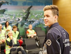 Pascal Kheribich started his apprenticeship at Lufthansa Technik this year.