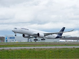 Lufthansa receives 10th Airbus A350-900: The eye catcher at the Family & Music Days at Munich Airport