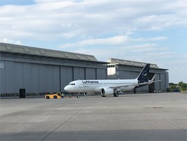 First Airbus A320neo with new Lufthansa design