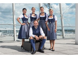 Lufthansa Crew in traditional Bavarian costume