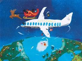 Weihnachtskarte der Lufthansa Group 2018