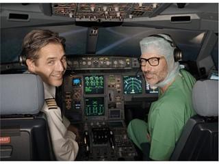 Piloten trainieren Ärzte