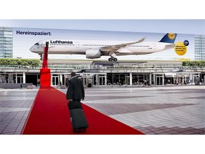 Lufthansa A350 rollt den roten Teppich aus