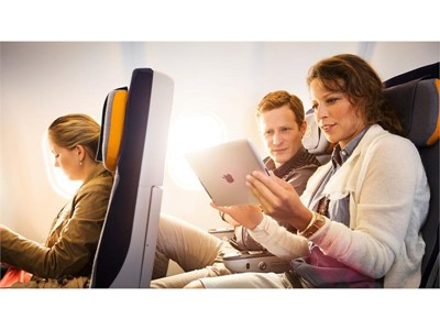 Surfing above the clouds: Lufthansa and Austrian Airlines going online on short haul and mid-range f