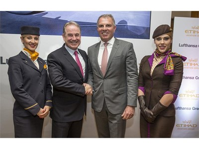 Etihad Aviation Group und Lufthansa Group weiten Kooperation aus