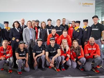 Lufthansa fliegt Deutsche Topathleten zu den Olympischen Winterspielen nach Südkorea