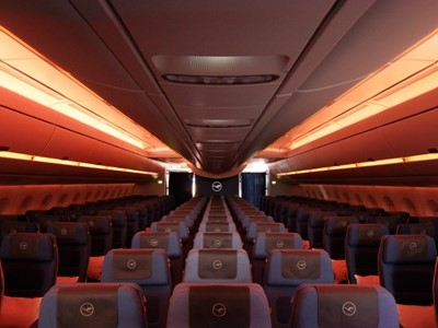 A milestone in cabin lighting: Lufthansa A350-900 awarded German Lighting Design Prize