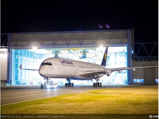 A350-900 MSN074 DLH Rolls Out