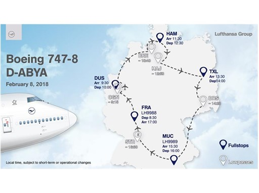 The new Lufthansa design goes on tour