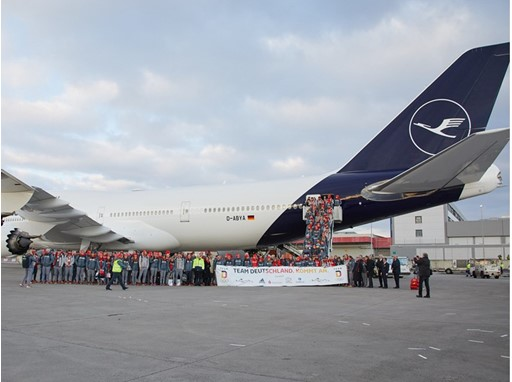 Lufthansa bringt Olympia Team Deutschland von Südkorea zurück nach Deutschland